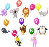 Alfabeto degli animali Fotografia Stock