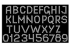 Alfabeto dei diamanti Immagine Stock