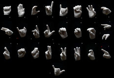 Alfabeto dei gesti Fotografie Stock