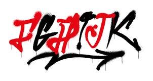 Alfabeto dei graffiti royalty illustrazione gratis