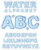 Alfabeto del agua. Imagen de archivo libre de regalías