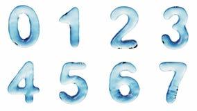 Alfabeto del agua aislada en un fondo blanco libre illustration