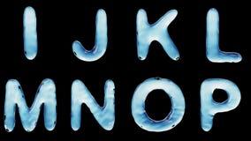 Alfabeto del agua aislada en un fondo negro libre illustration