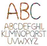 Alfabeto del alambre Imagen de archivo libre de regalías