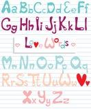 Alfabeto del amor Imagenes de archivo