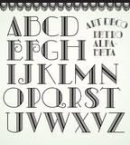 Alfabeto del art déco ilustración del vector