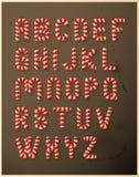 Alfabeto del bastón de caramelo Fotografía de archivo