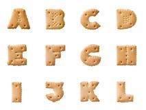 Alfabeto del biscotto Immagine Stock