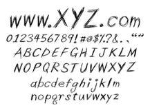 Alfabeto del bosquejo Fotografía de archivo
