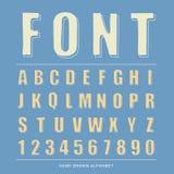 alfabeto del bosquejo de la fuente, ejemplo del vector Foto de archivo