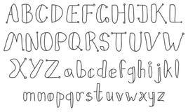 Alfabeto del bosquejo de la vendimia Fotos de archivo libres de regalías