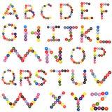 alfabeto del botón fotografía de archivo libre de regalías
