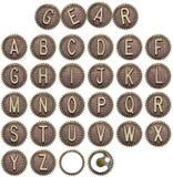 Alfabeto del bottone Immagine Stock