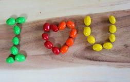 Alfabeto del caramelo Fotografía de archivo libre de regalías