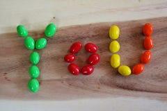 Alfabeto del caramelo Imagen de archivo