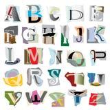 Alfabeto del collage Imagen de archivo libre de regalías