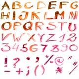 Alfabeto del color Imágenes de archivo libres de regalías