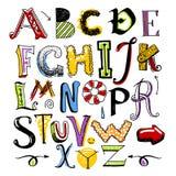 Alfabeto del color del garabato Fotografía de archivo libre de regalías