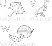 Alfabeto del colorante Imagen de archivo