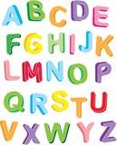 alfabeto del colorfull 3d Fotografía de archivo libre de regalías