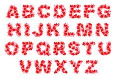 Alfabeto del cuore Fotografia Stock Libera da Diritti