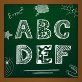 Alfabeto del dibujo de tiza del vector Imagen de archivo