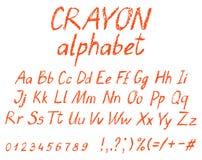 Alfabeto del dibujo del ` s del niño del creyón ilustración del vector