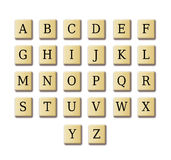 Alfabeto del diseño del crucigrama Fotografía de archivo libre de regalías
