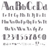 Alfabeto del disegno della mano Immagini Stock
