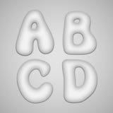 Alfabeto del Doodle stock de ilustración