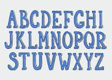 Alfabeto del Doodle Imágenes de archivo libres de regalías