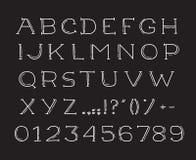 Alfabeto del drawin de la mano handwritting la fuente de vector del ABC Foto de archivo libre de regalías