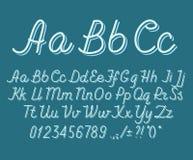 Alfabeto del drawin della mano che handwritting la fonte di vettore di ABC Fotografia Stock Libera da Diritti