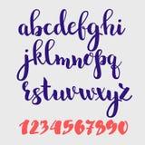 Alfabeto del estilo del cepillo Fotografía de archivo libre de regalías