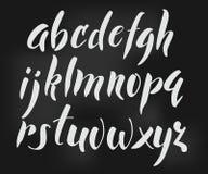 Alfabeto del estilo del cepillo Fotos de archivo libres de regalías