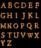 Alfabeto del fuego Imagen de archivo libre de regalías