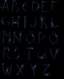 Alfabeto del fumo Fotografie Stock Libere da Diritti