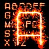 Alfabeto del fuoco Immagini Stock