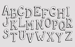 Alfabeto del garabato 3d Foto de archivo libre de regalías