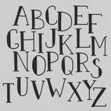 Alfabeto del garabato del vector Imagen de archivo libre de regalías