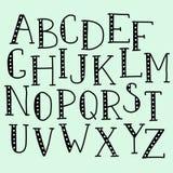 Alfabeto del garabato del vector Fotografía de archivo libre de regalías