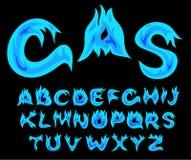 Alfabeto del gas Fotografía de archivo