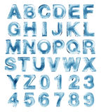 Alfabeto del ghiaccio Fotografie Stock