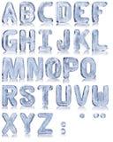 Alfabeto del ghiaccio Immagine Stock
