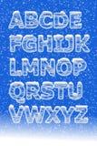 Alfabeto del ghiaccio Immagini Stock
