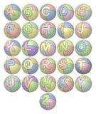 Alfabeto del globo Imagen de archivo