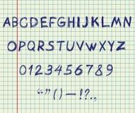 Alfabeto del gráfico de la mano Fotografía de archivo