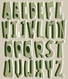Alfabeto del gráfico de la mano Imagen de archivo libre de regalías