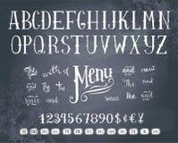 Alfabeto del gráfico de la mano Fotografía de archivo libre de regalías