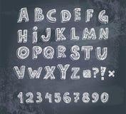 Alfabeto del gráfico de la mano Foto de archivo